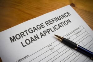 Mortgage refinance loan application and pen